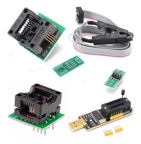 Programador Gravador Usb Bios + Pinça + Soic8 Sop8 200mil