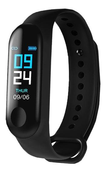 Kit 10 Pulseira Inteligente Smartband M3 Relógio Monitor