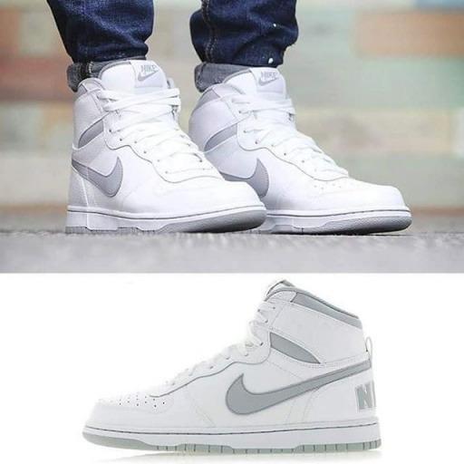 Tênis Big Nike High Couro Branco Cano Alto