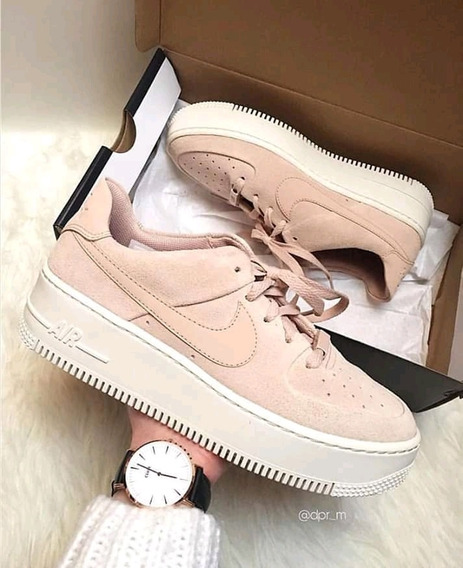 Nike Air Force Plataforma Pink