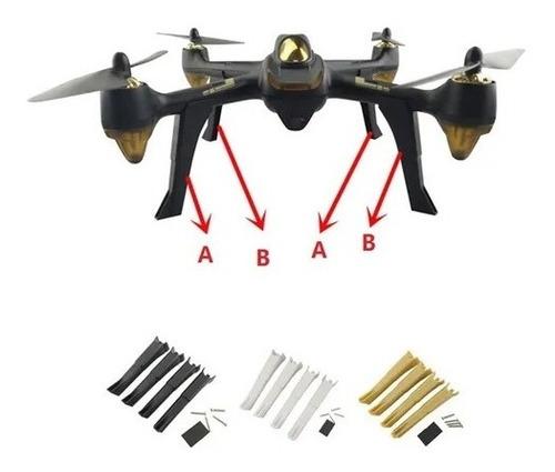 Skids De Pouso Do Drone Hubsan H501s Preto, Dourado E Branco