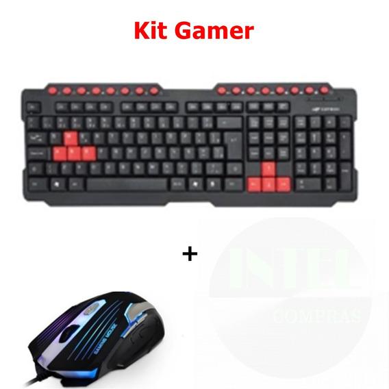 Teclado Gamer Kg-10bk Usb C3t + Mouse Gamer