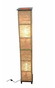 Abajur De Chão Luminária 1,50 De Altura Em Sisal