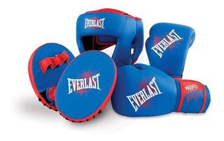 Kit Boxeo Infantil Prospect Completo Guantes Cabezal Focos