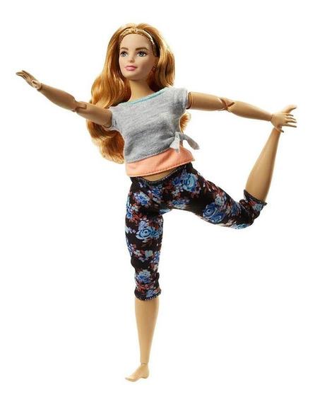Boneca Barbie - Feita Para Mexer - Aula De Yoga - Blusa Cinz