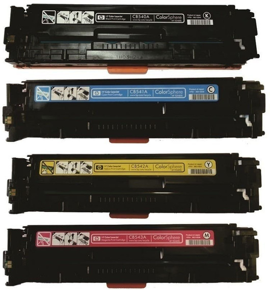 Kit C/ 4 Toner Color Cb540a Cb541a Cb542a Cb543a Hp Cp1215