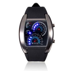 Relógio Aço Inoxidável Esportivo Analógico Quartzo Led