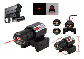 Mira Tactica Laser Red Dot Para Pistola Rifle Aire Gotcha