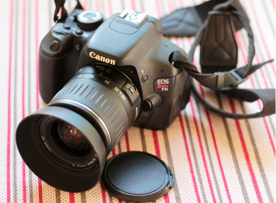 Canon T3i + Lente 28-90ef + Parasol + Carregador E Bateria