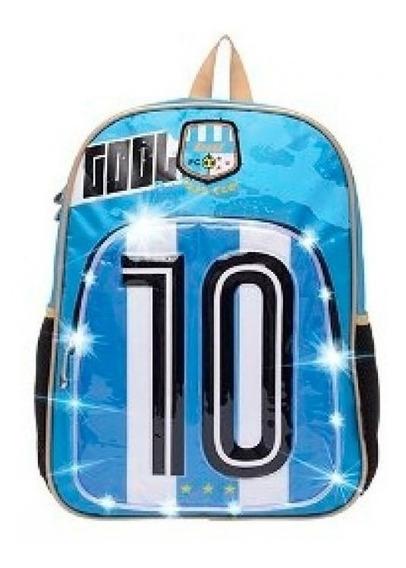 Mochila Lsd Espalda Football Argentina Con Led 17´´