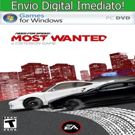 Need For Speed Most Wanted 2012 Pc Hd Pt Br Envio Imediato.