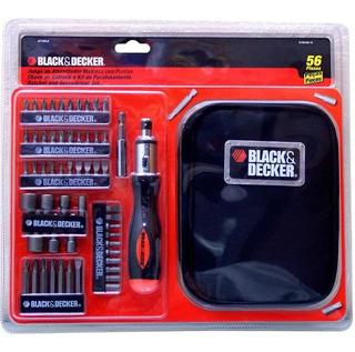 Set Destornillador X56 Piezas Black & Decker A7104la