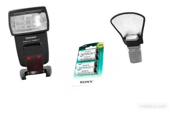 Yongnuo 568 Ex Illc+ Pilhas Sony Aa 2500mah+rebatedor Difsor
