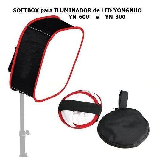 Kit 2 Softbox Difusor P/ Iluminador Led Yongnuo Yn-600
