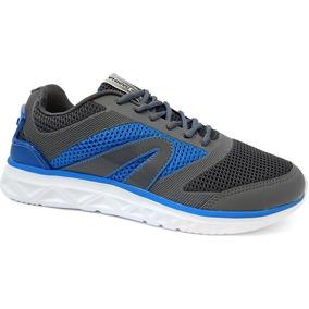 Tenis Masculino Heat 4201149 - Rainha (07) - Chumbo/azul