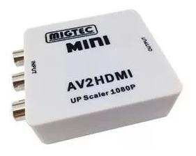 Conversor 2av Para Hdmi 720p/1080p Up Scaler
