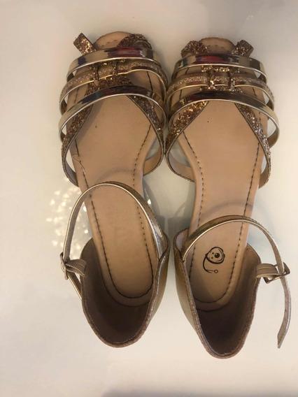 Sandália Dourada Infantil