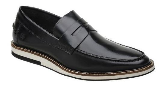 Sapato Casual Masculino Malbork Em Couro Box Preto