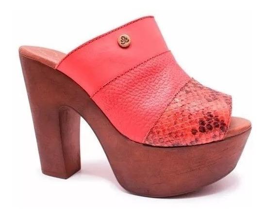 Sandalias Zapato Mujer Cuero Gza Taco 13cm Citadina Juliana