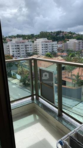 Lindo Apartamento Com 2 Dormitórios À Venda, 80 M² Por R$ 370.000 - Badu - Niterói/rj - Ap0542