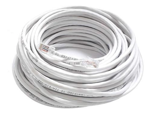 Cable Internet Utp Lan Rj45 Categoria 6 Ponchado X 20 Metros
