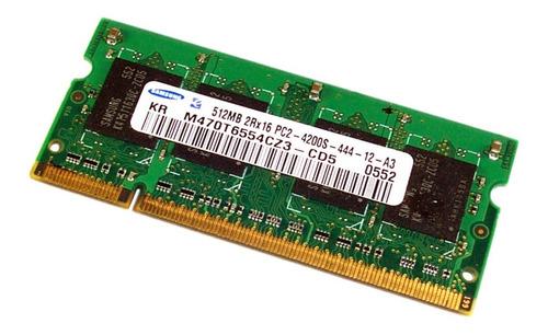 Memoria Notebook  512mb 2rx16 Pc2-4200s-444-12