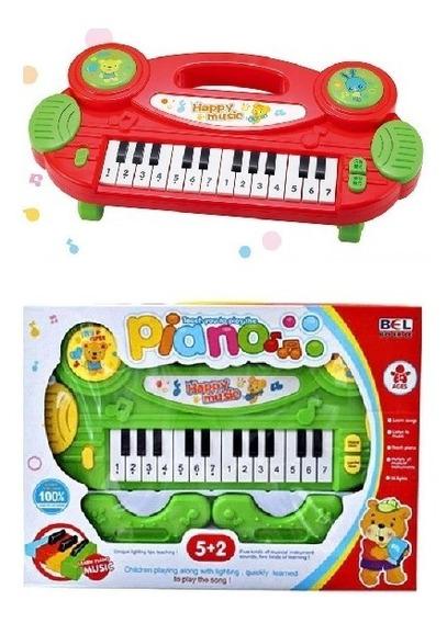 Teclado Infantil Piano Musical Luz Brinquedo Educativo Multi