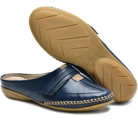 Sapato Mule Babuche Em Couro Ana Flex Frete Grátis