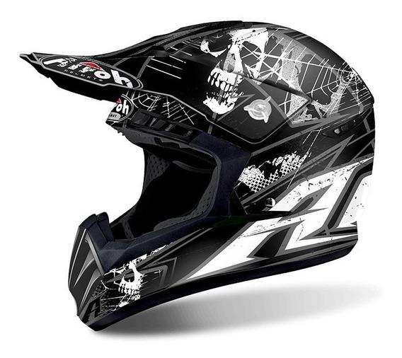 Capacete Airoh Motocross Switch Scary Black Matt