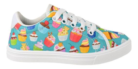 Tenis Infantil Casual Estampado Cupcake Menina Lançamento!
