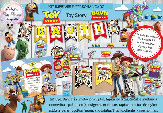 Kit Imprimible Candy Bar Toy Story Personalizado