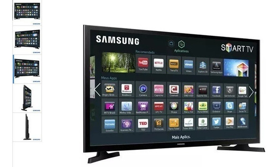 Smart Tv Samsung Led Hd 32 Modo Futebol Wi-fi Un32j4300agxzd