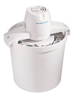 Máquina Para Hacer Helado Ice Cream Nieve Casera Automática De 3.8 Litros Hamilton Beach Helado Hecho En Casa