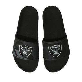 Chinelo Estampa Camuflada Oakland Raiders Cinza