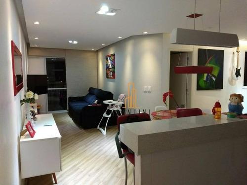 Apartamento Com 3 Dormitórios À Venda, 83 M² Por R$ 530.000,00 - Vila Baeta Neves - São Bernardo Do Campo/sp - Ap2027