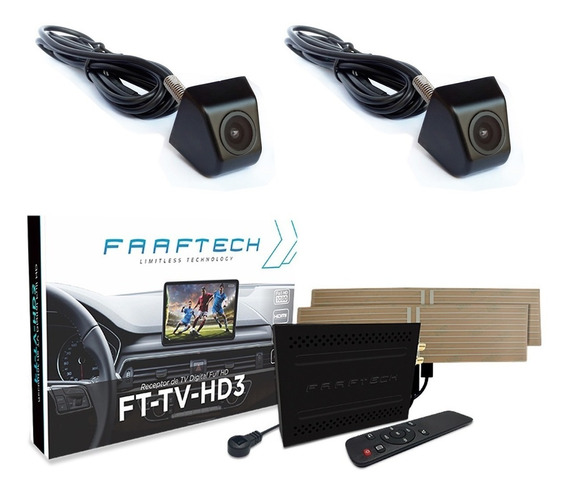 Receptor Tv Digital Full Hd Entrada Usb Faaftech + 2 Câmeras