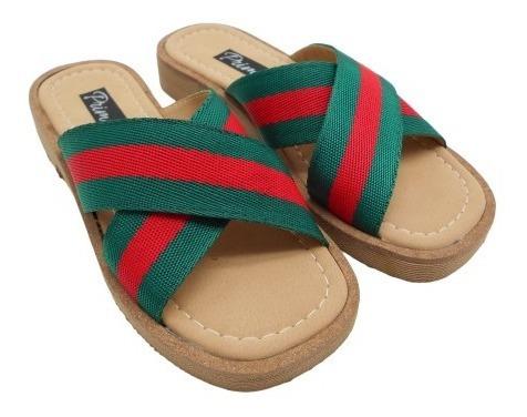 Sandalias Zueco Baja Cuero Zapatos Tela Mujer Moda 149 148