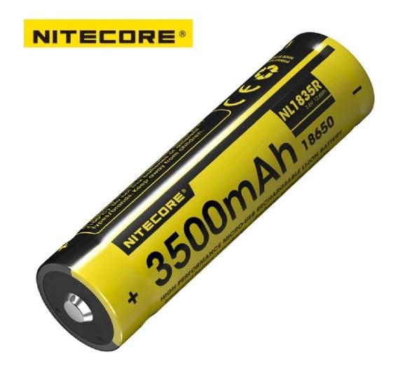 Bateria Nitecore 18650 3500mah 3,6v Carrega Por Micro-usb