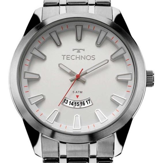 Relógio Technos Prateado Masculino Racer 2115kzb/1b + Nf
