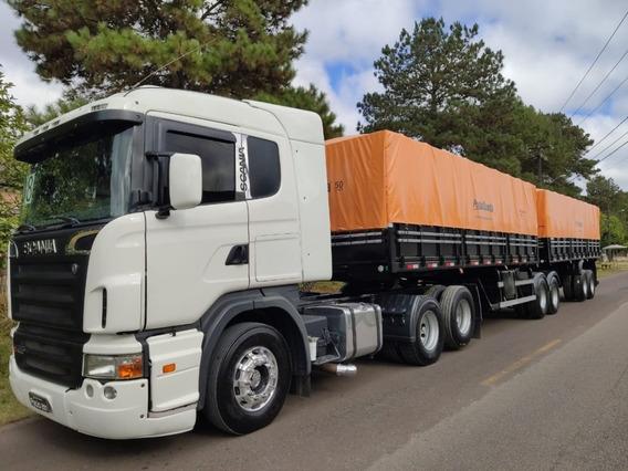 Conjunto Scania G 420 + Bitrem Noma Ano 2014 Com Pneus