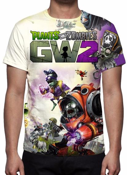 Camisa, Camiseta Game Plants Vs Zombies Garden Warfare 2