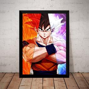 Quadro Dragon Ball Super Arte Goku Fases Instinto Superior