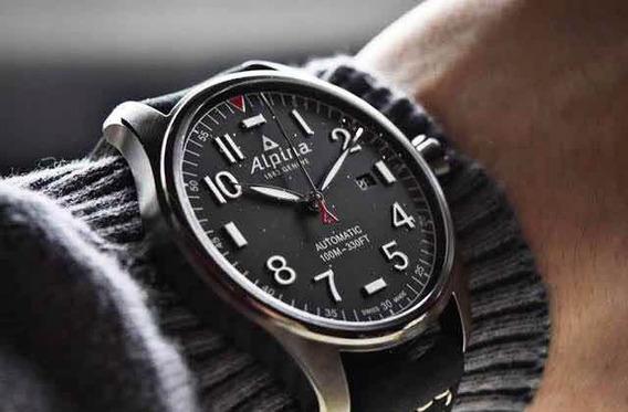 Relógio Alpina Pilot Automático Startimer Suíço 44mm