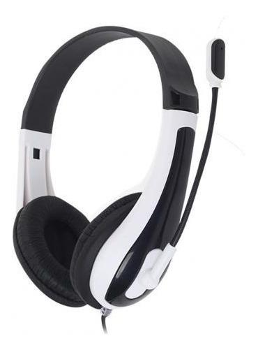 Fone De Ouvido Headset Hit C/ Microfone Preto/branco C/ Nota Fiscal E Garantia De 12 Meses