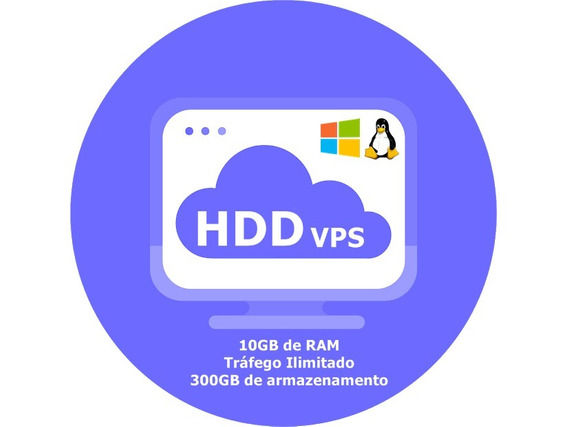 Servidor Vps / 10gb Ram / 300gb Hdd / 4x3.8ghz / Anti-ddos