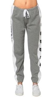 Pantalon Joggin Team Fox Talle M Gris/blanco Nuevo Original
