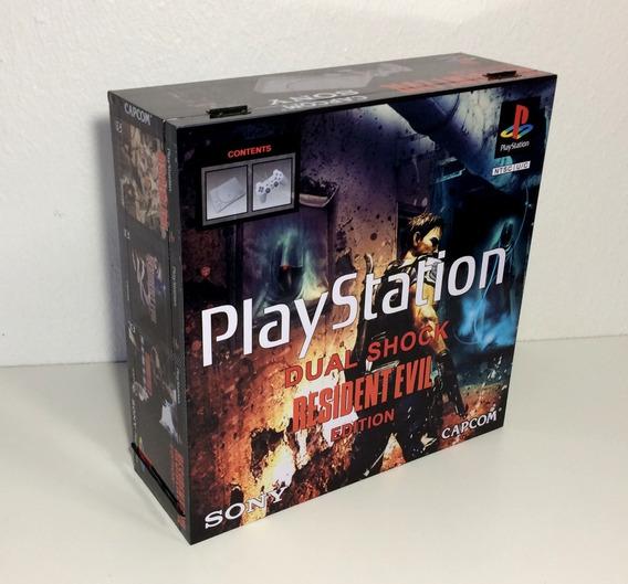 Caixa Vazia Playstation 1 Fat Resident Evil De Madeira Mdf