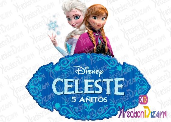 Logo Personalizado De Frozen Con Tu Nombre