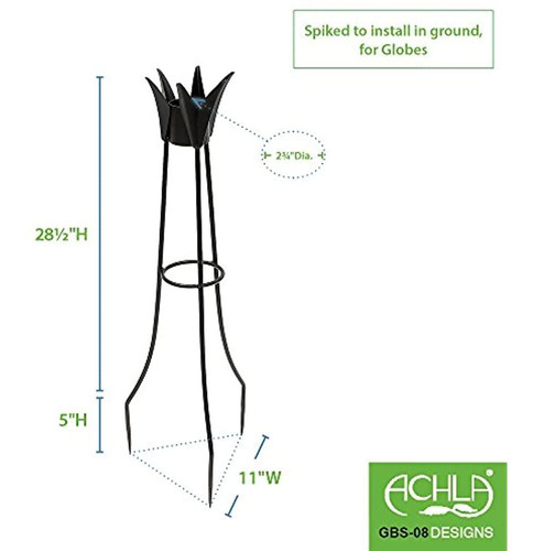 Imagen 1 de 3 de Achla Designs Mirando Globe Ball Stand 34inch H Spiked
