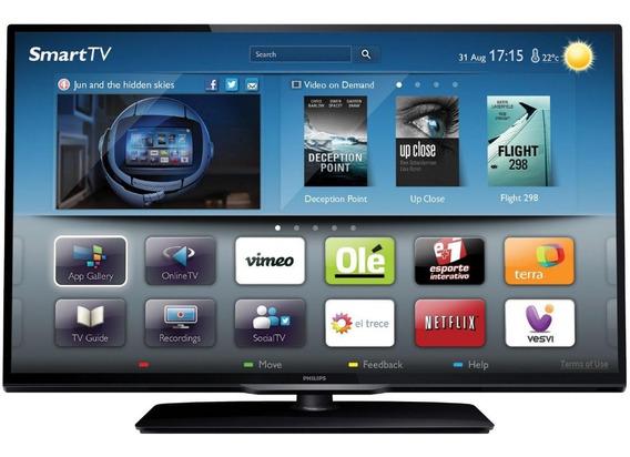 Tv 32 Led Full Hd C/ Smart Tv, 1 Hdmi, 2 Usb, 120hz